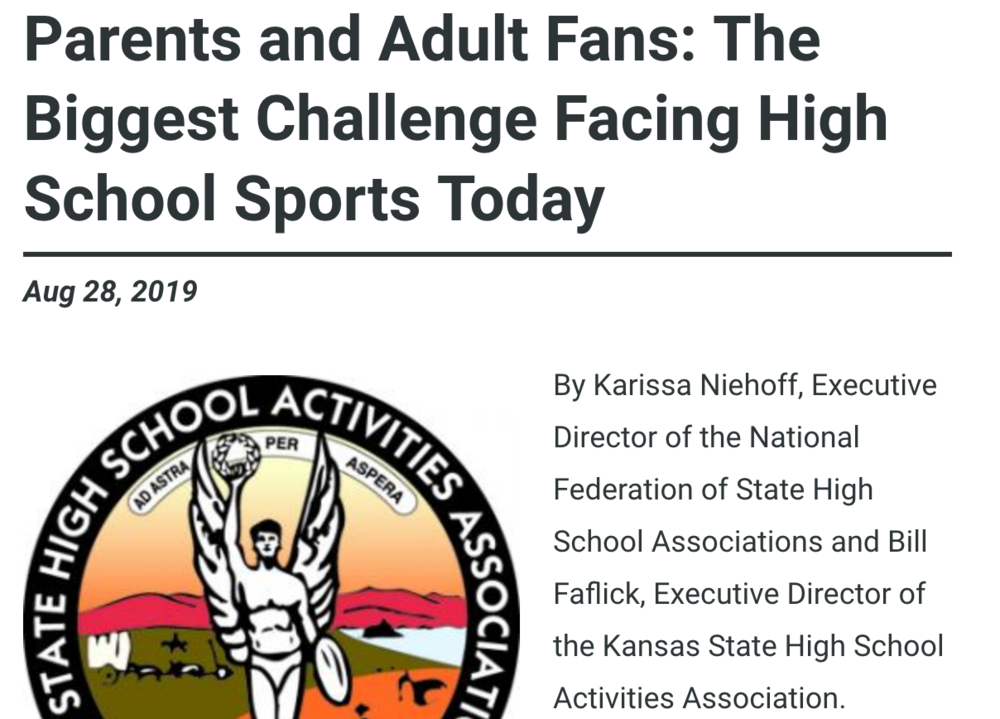 Parents and Adult Fans: The Biggest Challenge Facing High School Sports Today