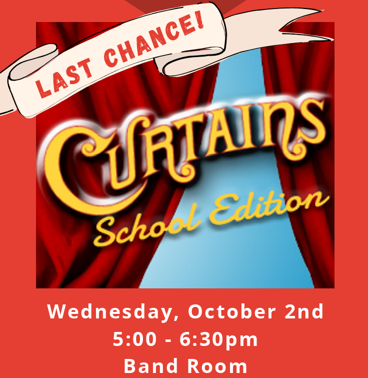 Curtains Auditions October 2nd