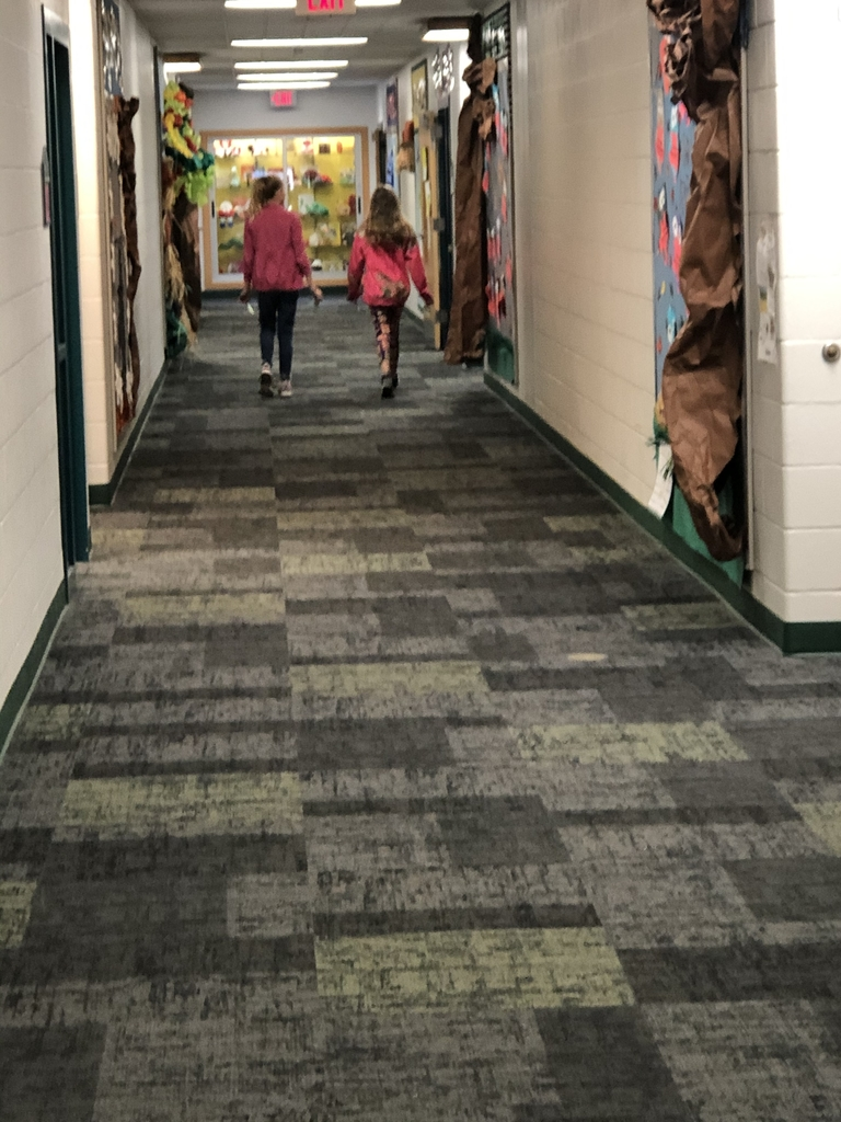 Walking down the primary wing to spread happiness!