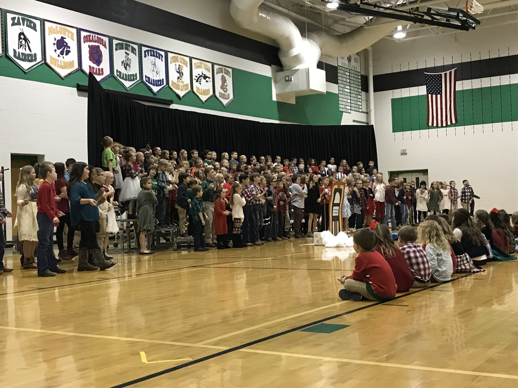 1st through fifth grades took us back in time with their holiday songs.