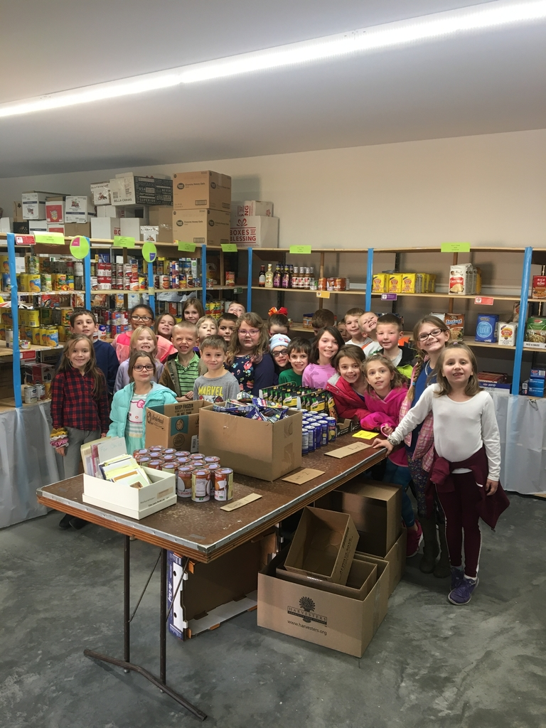 2nd Grade dropped off our items from the Food Drive to the Panty of Hope today!