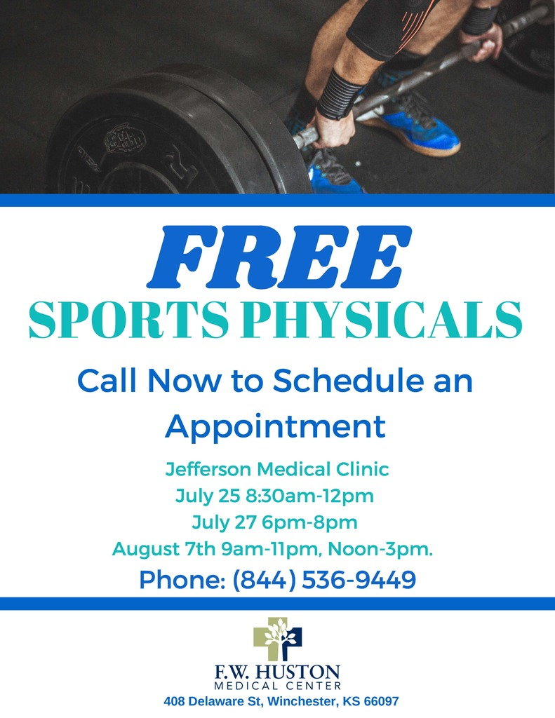 Announcement for Free Sports Physicals