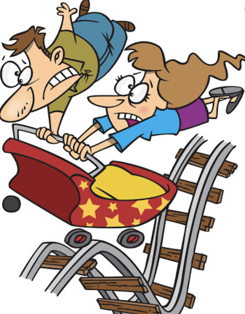 Clipart of runaway roller coaster